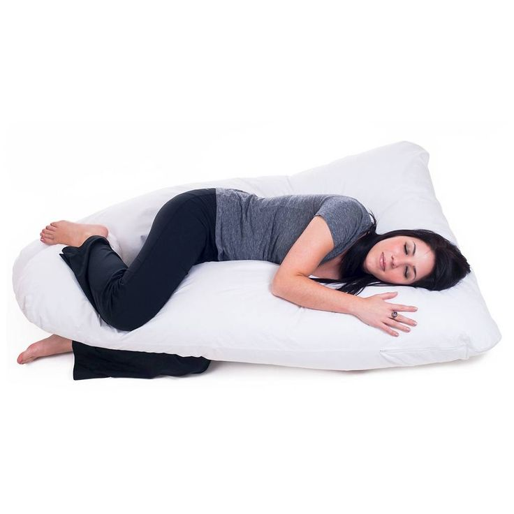 Bluestone Full Body Contour U Pillow - Great for Pregnancy - White. Image 1 of 1.