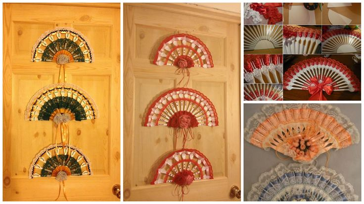 How to make plastic fork fan wall art
