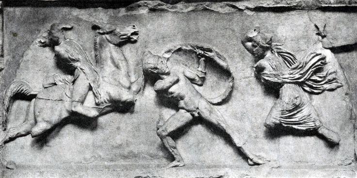 Скопас. Битва греков с амазонками. Фрагмент фриза Галикарнасского Мавзолея2