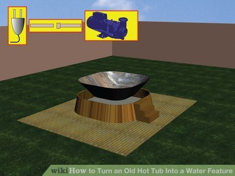 Image titled Turn an Old Hot Tub Into a Water Feature Step 1