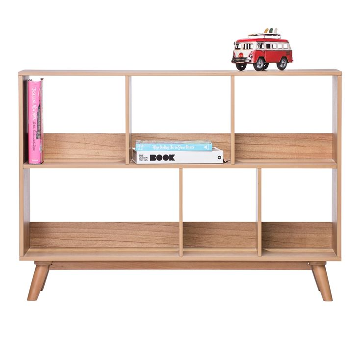 Minimalist Scandinavian Bookshelves For Little Boys Room With Natural Brown Wooden Storage Bookshelves Be Equipped Car Toys In The Top Shelves Also Natural Brown Wooden Base Legs Storage Shelves Of Modern Scandinavian Bookshelves As Well As Cheap Bookcases For Sale Plus Built In Bookcases, Extraordinary Ideas For Scandinavian Bookshelves: Furniture, Interior