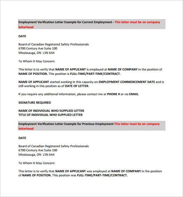 Previous Employment Verification Form Letter Of Employment Good Essay Employment Verification Letter