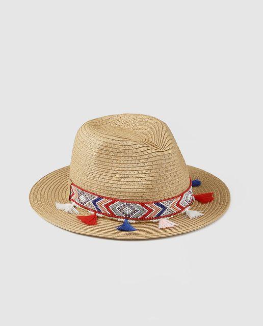Sombrero tipo fedora en color camel 260fb480dce
