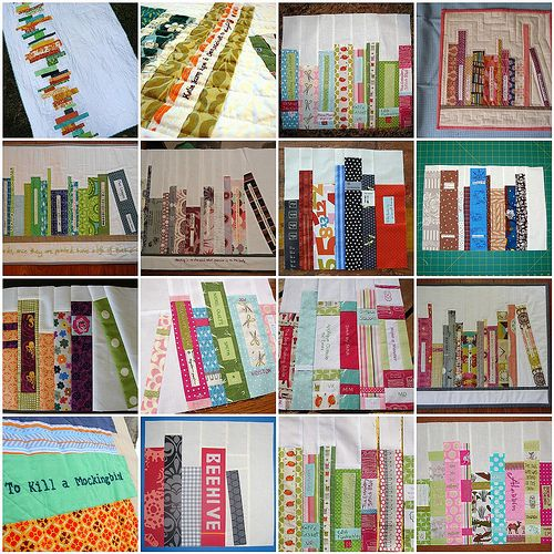 books on shelves quilt | bookshelf quilt block inspiration 5