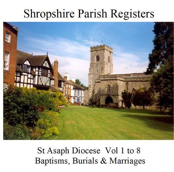 Shropshire Parish Registers St Asaph Diocese Set 3 Diocese Parish Shropshire