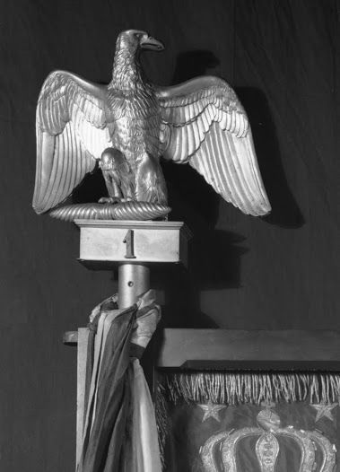Eagle, Staff, Flag and Cravat: Insignia of the First Regiment Grenadiers of foot of Napoleon's Imperial Guard 1813-1814.