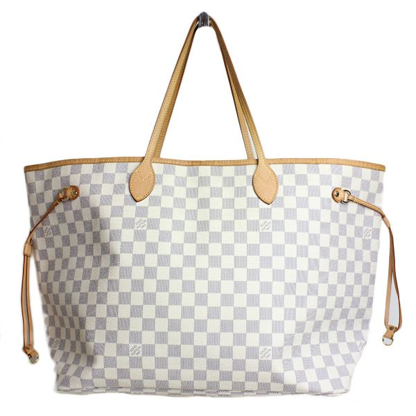 Louis vuitton damier never full gm bag designer handbags for Louis vuitton miroir bags