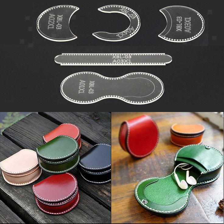 DIY CLEAR LEDER Craft Acryl Brieftasche Muster Schablone Template Tool DIY Set – $ … – Nähwerk