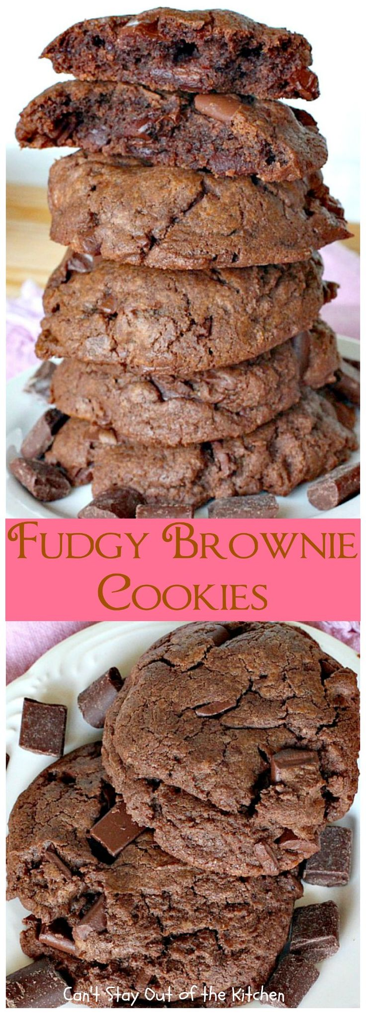 Fudgy Brownie Cookies | Can't Stay Out of the Kitchen | These chocolate cookies are awesome.