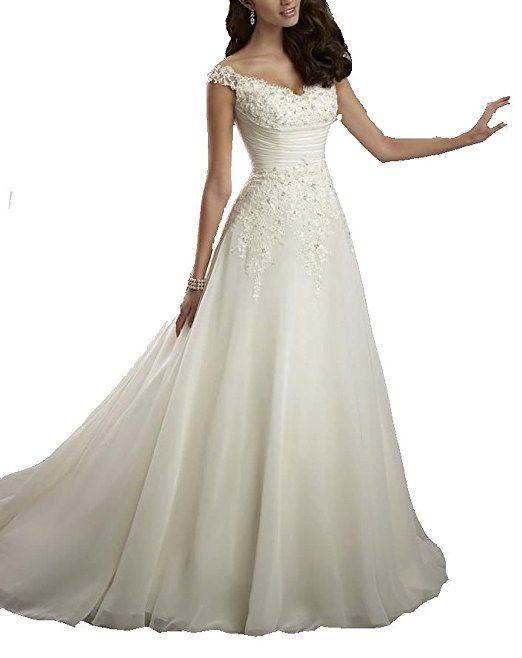 Phoenix® Brautkleid Hochzeitskleid Brautjungfer Kleider Hochzeit Kleidung Abendmode elegante romantische Hochzeit prom Kleider für Brautjungfer Heimkehr Abendkleider Ball eine Linie (52, Weiß)