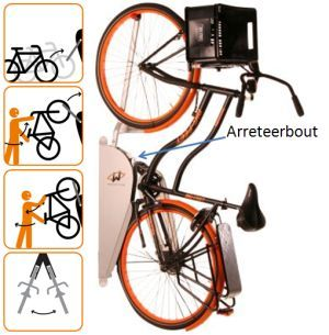 13 best images about fietsenstalling on pinterest bike for Ganci da muro
