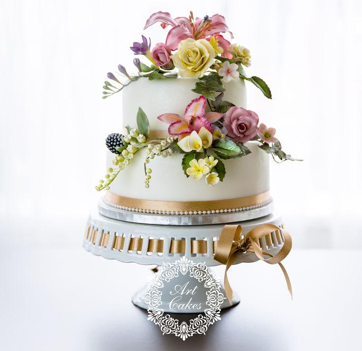 hand made sugar flowers. Bouquet wedding cake. Master piece. ručne robené cukrové kvety. www.artcakes.sk