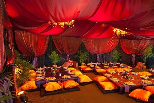 Mehndi <3 ceremony <3 Moroccan ♥ Indian ♥ fusion ♥ wedding ♥ decor ♥ reception ♥ tent ♥ flowers ♥ cushions ♥ candles ♥ lanterns ♥