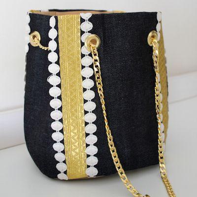 The Boho chic bucket bag! www.cazabrand.com #boho #bucketbag