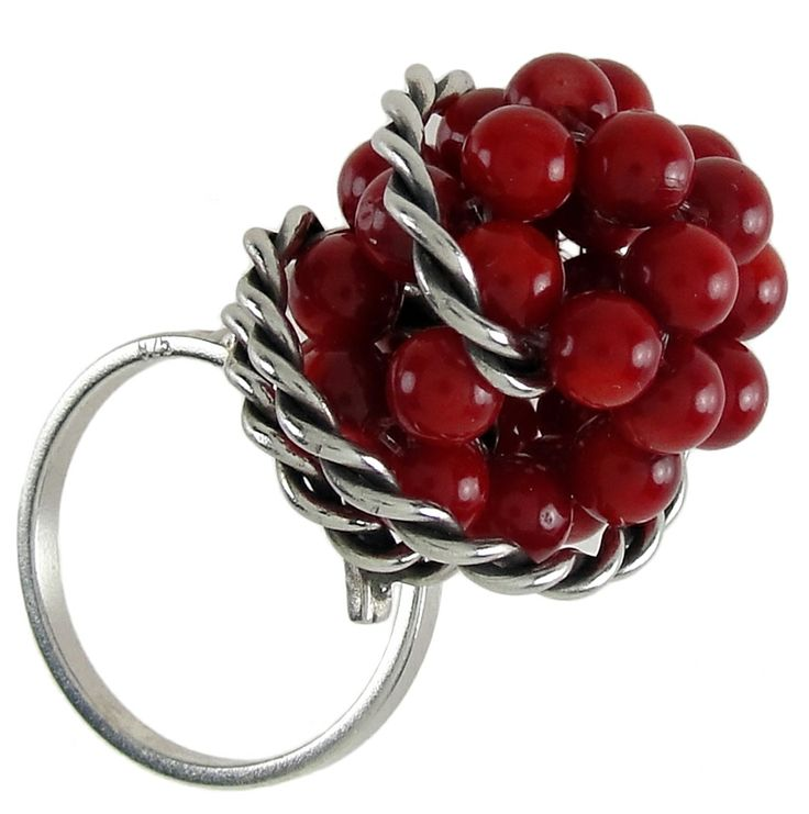 Emmanuela.gr - Handmade Jewelry - Rings :: Coral Ring in Sterling Silver