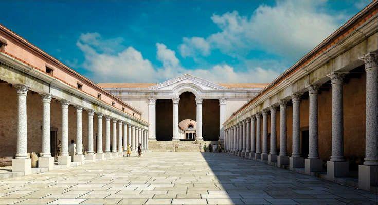 Τα παραπάνω κτίσματα και πλήθος άλλων όπως το Ανάκτορο το Οκτάγωνο, η Βασιλική και η Αψιδωτή Αίθουσα αποτελούσαν μέρος του μεγαλειώδους Γαλεριανού Συγκροτήματος