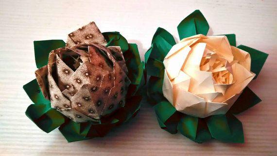 Fiore di loro ninfea fiori di carta origami paper di Origart