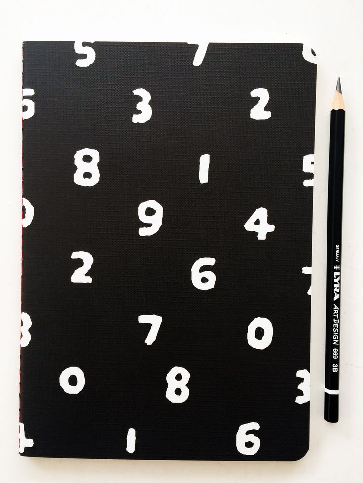 Sou Sou notebook and Lyra design pencil // B&W stationery