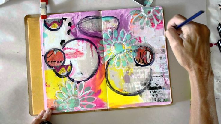 Mixed Media Art Journal Page by Rae Missigman