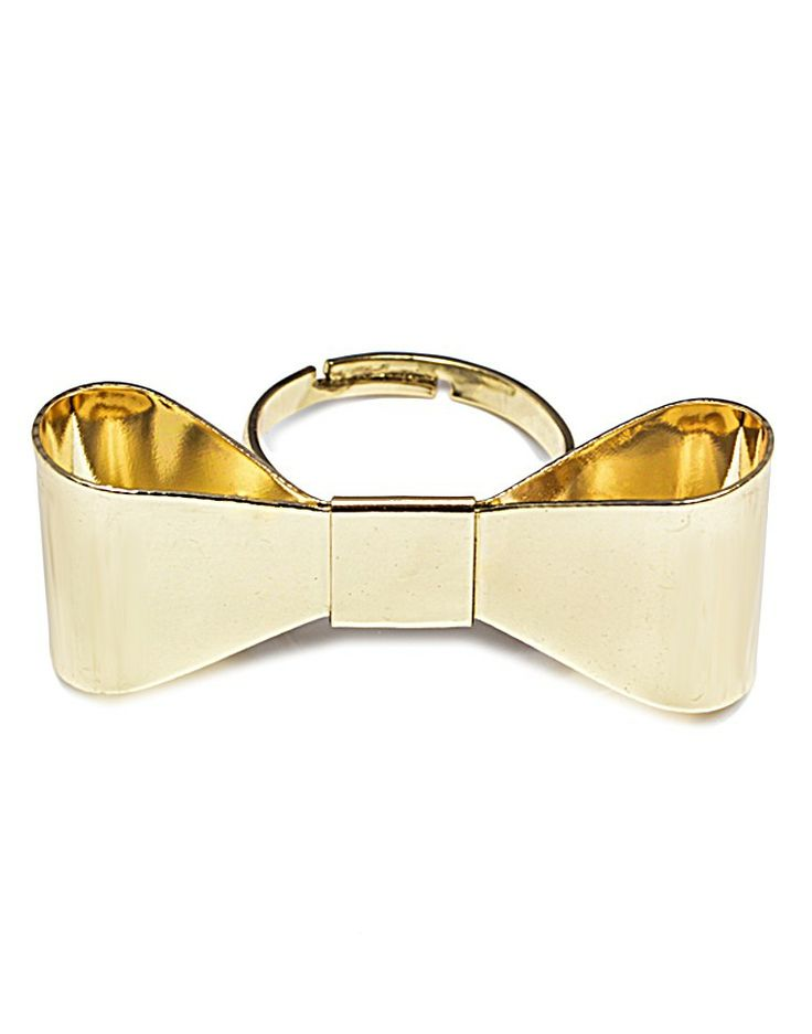 GODDESS   Bow Ring in Gold -  - Style36
