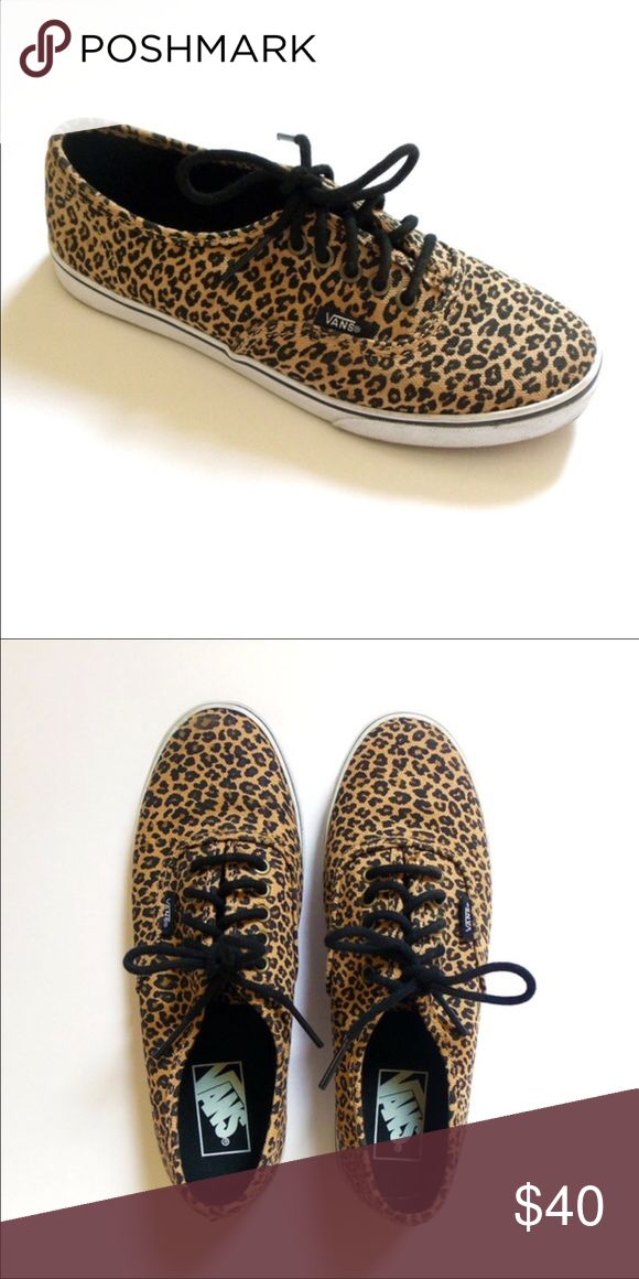 Leopard Vans Very little wear, in great condition! Shoes Athletic Shoes