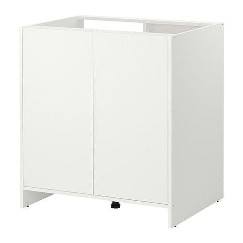 FYNDIG Benkeskap med dører IKEA Du kan tilpasse din oppbevaring med den flyttbare hylleplaten. Enkelt å bygge inn en servant.