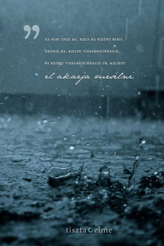 Az élet nem az, amit az ember átélt, hanem az, amire visszaemlékszik, és ahogy visszaemlékszik rá, amikor el akarja mesélni.  Gabriel García Márquez