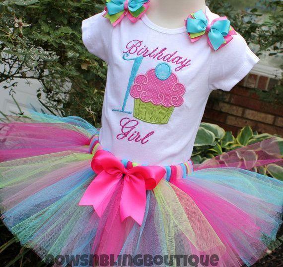 1st Birthday Outfit Cupcake Tutu First Birthday