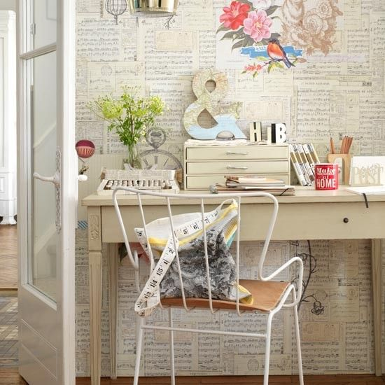 home offices | Pretty home office | Home office decorating ideas | Country Homes ...
