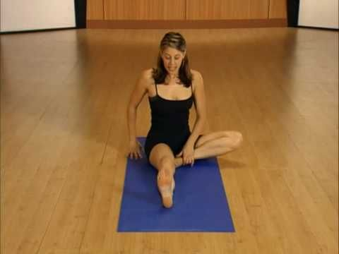 02 Basic Yoga Workout for Dummies Part 3- WOW Sarah was a baby here. Really miss her and my Fit TV on  Direct TV