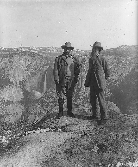 President Theodore Roosevelt  and John Muir in Yosemite, 1906