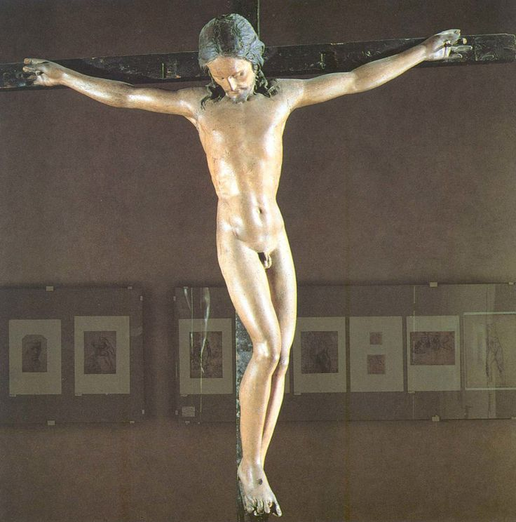 Микеланджело Буонарроти (1475 — 1564) –  Распятие    Распятие церкви Санто-Спирито — деревянное распятие, созданное Микеланджело в 1492 году. Это распятие было вырезано для алтаря церкви Санто-Спирито во Флоренции.