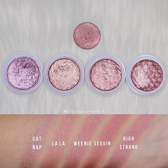 "WEBSTA @ colourpopfun - It seems like ""High Strung"" is very similar to ""Weenie"" Super Shock Shadow! What do you think?"