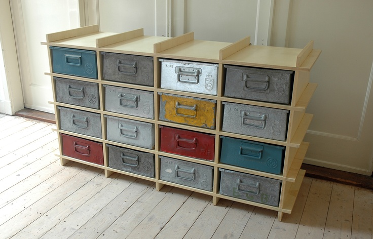 Vintage metal drawers