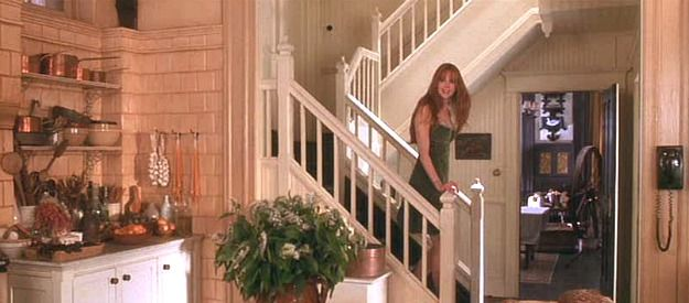 Practical Magic kitchen-back staircase
