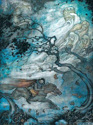 Van Strien - Schubert, Erlkönig.  Art inspired by Schubert's Art song, The Erl King