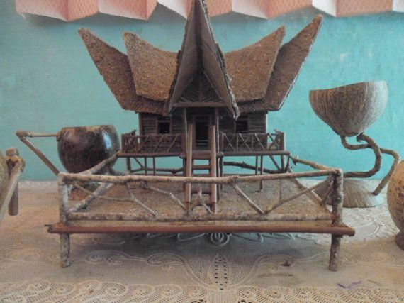 Miniature Traditional Homes Rumah Gadang Minangkabau Craft