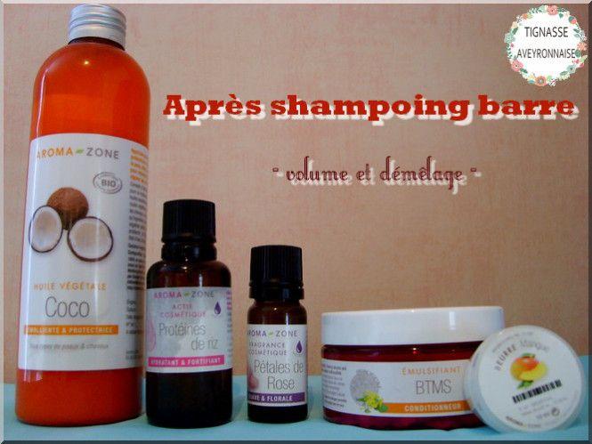 Après shampoing barre – volume et démêlage –