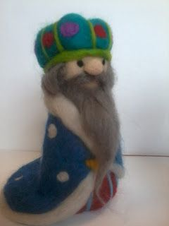 Needle felt, needle felting, needle felt ideas, Christmas decorations, three wise men, nativity, handmade, arts & crafts,