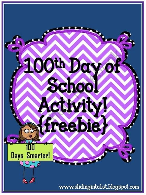 FREE Activities for the 100th Day of School {freebie} product from Sliding-into-First on TeachersNotebook.com