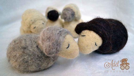 Felt Sheep - felt animal - felt lamb - decoration