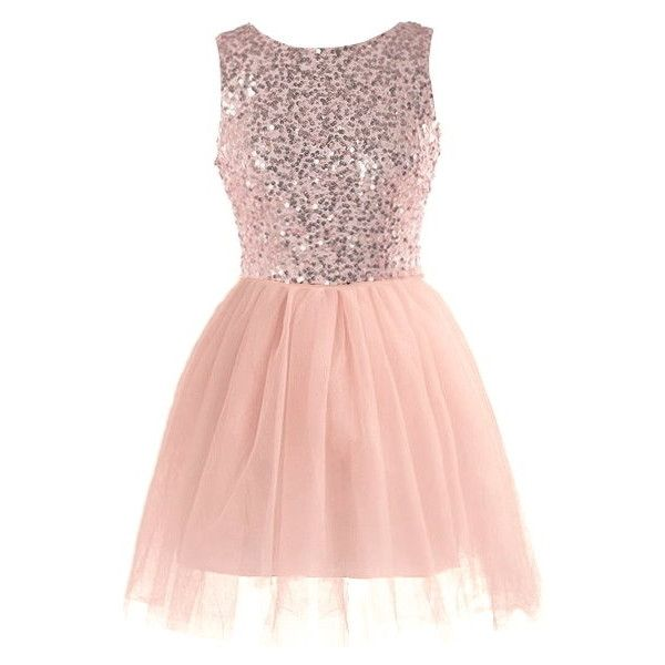 Glow Forth Dress (€110) ❤ liked on Polyvore featuring dresses, sparkly dresses, pink ballet dress, pink ballerina dress, pink dress and back zipper dress
