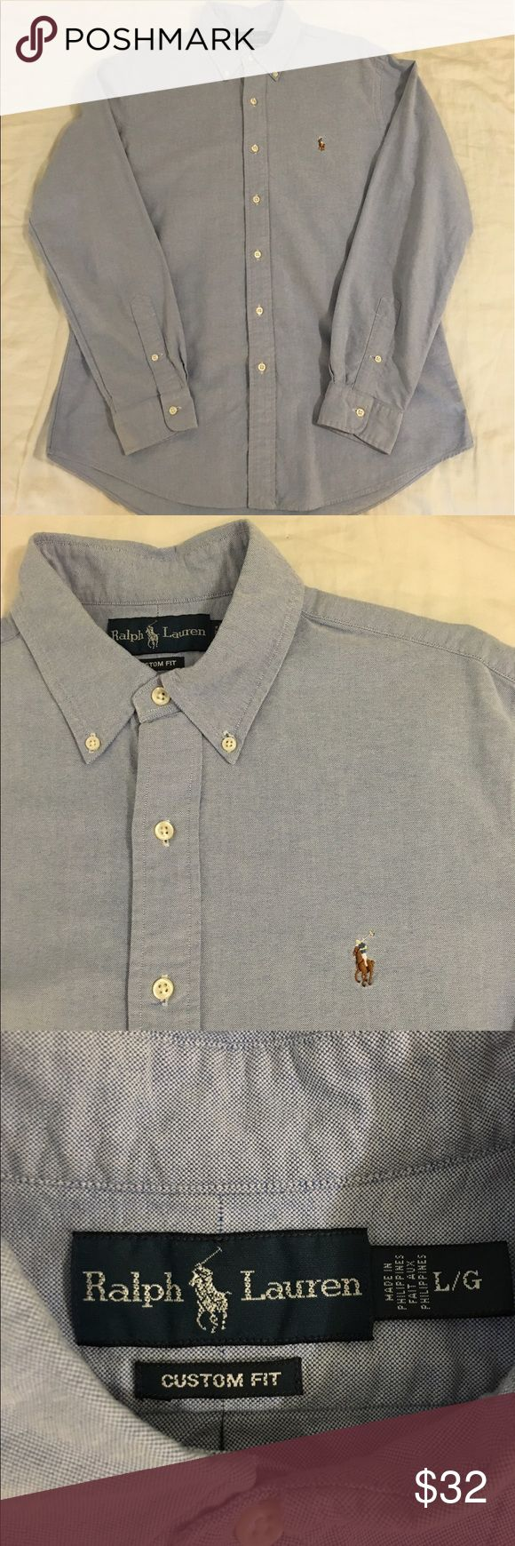 Polo by Ralph Lauren Oxford Shirt Men's Large For sale is a Polo by Ralph Lauren Men's Large Long Sleeve Button Down Oxford Shirt in Blue. The fit is Polo's Custom Fit. This shirt is in perfect, like new condition. Please let me know if you have any questions! I'm more than happy to help! Polo by Ralph Lauren Shirts Casual Button Down Shirts