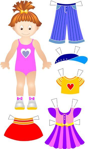 Бумажная кукла. С одеждой