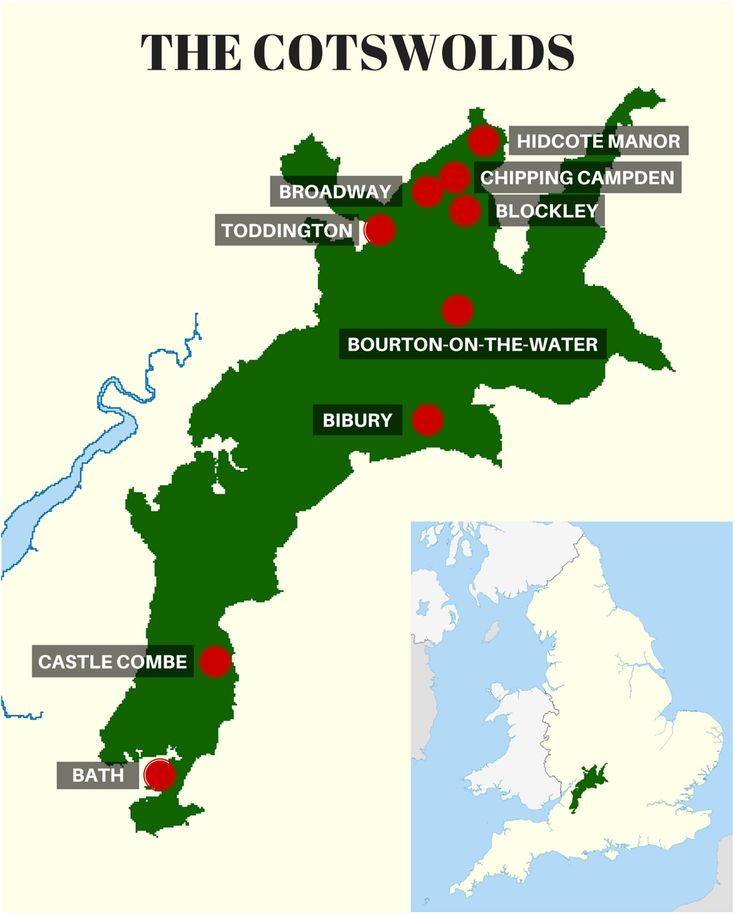 THE COTSWOLDS MAP