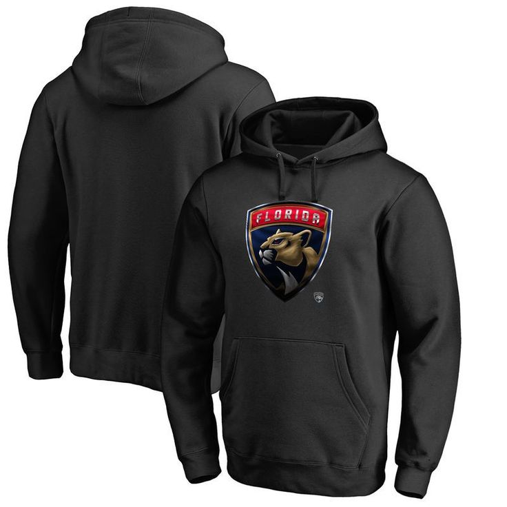 Florida Panthers Fanatics Branded Midnight Mascot Pullover Hoodie - Black