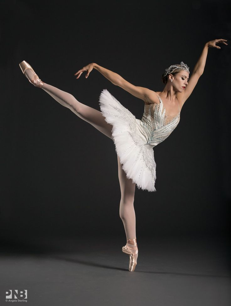 Pacific Northwest Ballet's Lesley Rausch in 'Swan Lake' - Photographed by Angela Sterling Photography.