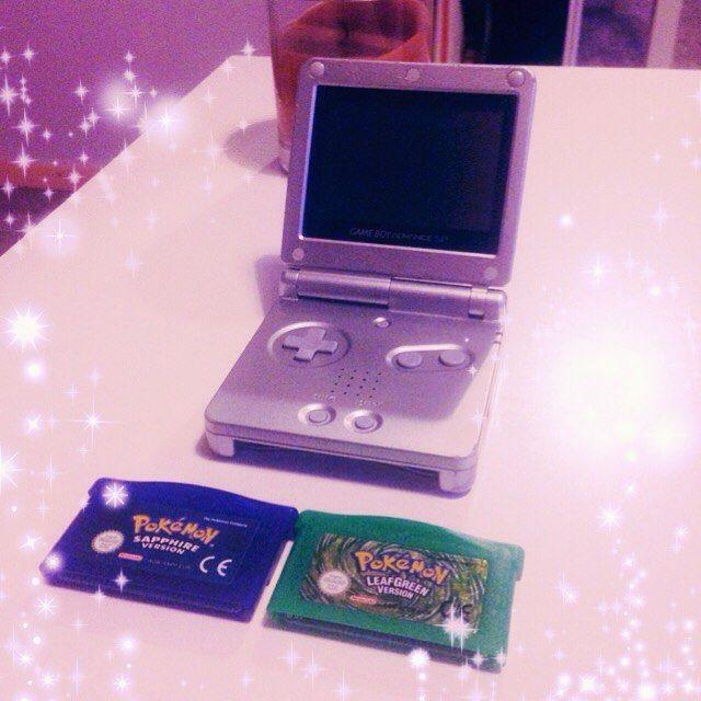 ronja_otaku: I went through my drawers and found my old GamaBoy Advance system and two Pokémon games! I thought I didn't have them anymore! Now I'm gonna play it like crazy! So nostalgic... #gameboy #gameboyadvance #gameboyadvancesp #silver #nintendo #console #videogame #pokemon #pokémon #poke #pokemonleafgreen #pokemonsapphire #gba #kawaii #otaku #game #gameboy #microobbit