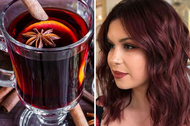 I Dare You Not To Fall In Love With This Beautiful Mulled Wine Hair Trend