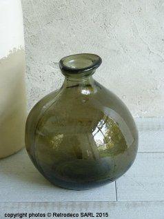 Vase bonbonne Fado vert fumé, déco scandinave, Pomax
